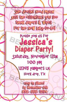 Digital Diaper and Beer Party Invitation | Diaper party ...
