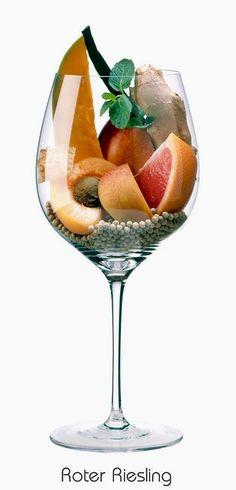 Red Riesling (white) | Aromas of apricot, peach, nectarine, red grapefruit, mango, vanilla, mint, white pepper, ginger, honey | Germany