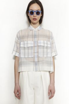 NANUSHKA, Tosca Camp Shirt, Plaid |
