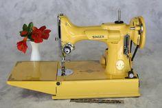 Custom Restored Singer 221 Featherweight - Highway Yellow