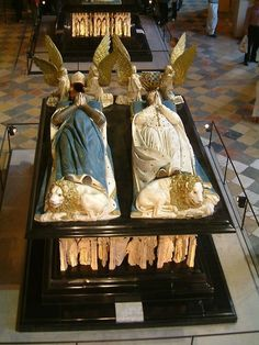 DIJON tomb of Jean sans peur, duke of Burgundy, and of Marguerite de Bavière.