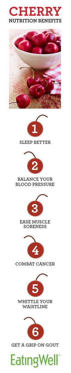 6 Nutrition Benefits of Cherries with more information at EatingWell.com
