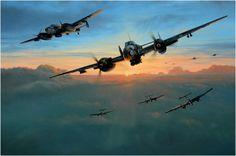'Dawn Strike'. Richard Taylor Amanece en el frente ruso, y el sol comienza a elevarse durante el caluroso verano de 1942, Messerschmitt Bf-110 'Wespe' fuertemente armados de la 6./ZG.1 se preparan para un ataque mañanero contra objetivos terrestres en la profundidades del territorio ruso. Por encima de ellos sus escoltas Bf-109 escanean los cielos en busca de intrusos enemigos. Más en www.elgrancapitan.org/foro