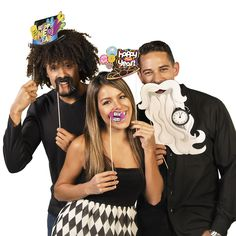After you puts away your Christmas supplies, make some room for your next holiday party with the New Year's Stick Costume Props. Perfect for your DIY Photo Booth!