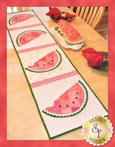 Watermelon Table Runner - Shabby Fabrics