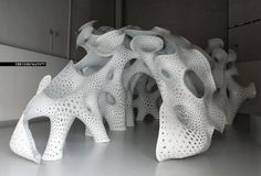 Biomimicry in architectural design by Marc Fornes