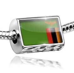 NEONBLOND Personalized Name Engraved Sudan Flag Dogtag Necklace