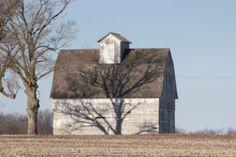 Shadow on a barn