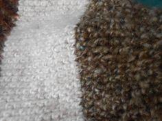 Fuzzy Warm Crochet Elf Hat - Close up of yarn texture