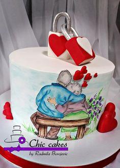 Marriage Anniversary Cake, Anniversary Cake Designs, Happy Anniversary Cakes, Birthday Cake Decorating, Cake Decorating Supplies, Cake Decorating Techniques, Cake Decorating Tutorials, Elegant Birthday Cakes, Beautiful Birthday Cakes