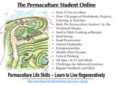 Free All-Ages Introduction to Permaculture!!  Check out what my course is like - Week 1 is open! :) :) :)  http://www.thepermaculturestudent.com/week1/