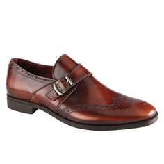 Break away from the lace-up brogues. Here's something new to try for fall: the monk strap.