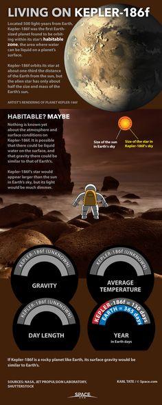 Living on an Alien Planet: Exoplanet Kepler-186f. Source: Space.com