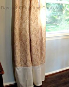 Shower Curtains Turned Dining Room Design D Cor Extend By Adding A Band On The Bottom