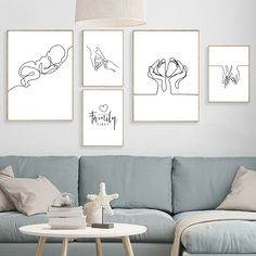 Living Room Pictures, Wall Pictures, Family Poster, Canvas Wall Art, Canvas Prints, Black And White Posters, Nordic Art, Modern Wall Art, Abstract Wall Art