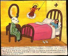 Mexican Exvoto Retablo MY Husband IS A Goat   eBay
