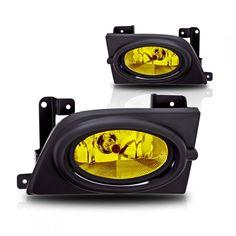 WinJet WJ30-0059-12 | 2006 Honda Civic Yellow OEM Fog Lights for Coupe/Sedan/Hatchback/Wagon