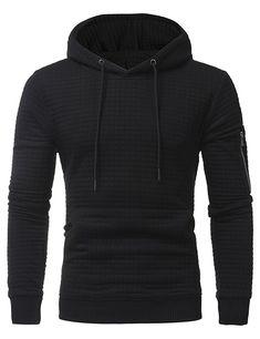 LeeLion 2018 Solid Plaid Hoodies Men Hooded Sweatshirts Spring Spring Fashion Cotton Sportswear Men's Slim Fit Pullovers New – Man Fashion 2020 Hoodie Sweatshirts, Style Casual, Men Casual, Style Men, Names Girl, Mantel, Zipper, Fashion Men, Style Fashion