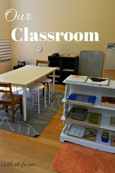 Great Montessori Inspired homeschool inspiration here! Just in time for the new school year.