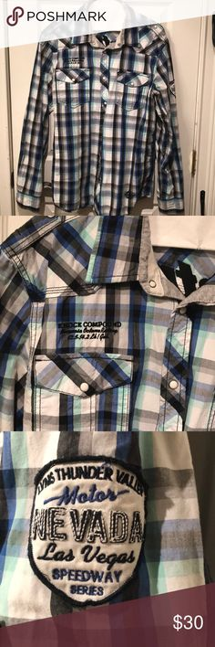 Petrol men's shirt Excellent condition! No stains, holes or missing snaps! Petrol Shirts Casual Button Down Shirts