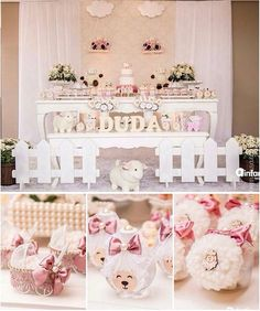 Sissy's baby shower Girl Baby Shower Decorations, Baby Shower Themes, Baby Party, Baby Shower Parties, Chanel Baby Shower, Baptism Themes, Baby Girl Baptism, Baby Lamb, Kids Party Themes