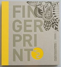 Fingerprint No. The Evolution of Handmade Elements in Graphic Design: Chen Design Associates, Joshua C. Tool Design, My Design, Design Ideas, Design Shop, Design Editorial, Design Brochure, Buch Design, Lettering, Handmade Design