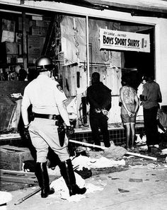 Watts, LA riots - August 1965.