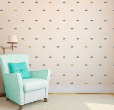 Clouds Tiny Wall Pattern Decal - Pattern Design - Wall Decal Custom Vinyl Art…
