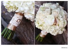 www.pixiespetals.com - neutral wedding bouquet