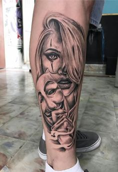 One Eye Tattoo complete Chicanas Tattoo, Skull Girl Tattoo, Girl Face Tattoo, Forarm Tattoos, Mask Tattoo, Face Tattoos, Skull Tattoos, Leg Tattoos, Body Art Tattoos