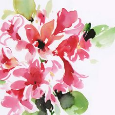 watercolor floral 2 Art Print