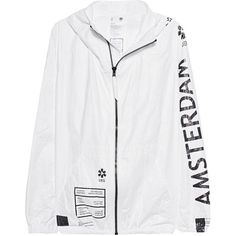 UEG Amsterdam White // Outdoor jacket with print (705 BRL) ❤ liked on Polyvore featuring men's fashion, men's clothing, men's outerwear, men's jackets, mens leopard print jacket, mens water resistant jacket, mens lightweight jacket, mens short sleeve jacket and mens white jacket