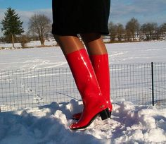 My super shiny JuJu high heel pvc wellies   My super shiny J…   Flickr