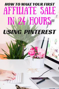 This Ebook taught me the exact strategy on how I made my first affiliate sale in 24 hours using Pinterest. This is how I make my first sale online.