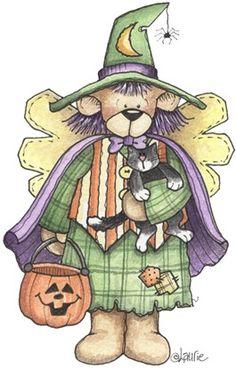 imagem decoupage clipar Witch