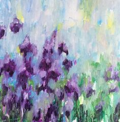 Floral painting poppy floral Abstract Landscape flower art Home decor Nature…