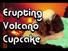 How to make a giant volcano cupcake with edible erupting lava