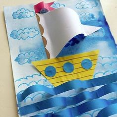 ideas spring art projects for kids preschool classroom The Effective Pictures We Offer You Boat Crafts, Fish Crafts, Ocean Crafts, Spring Art Projects, Projects For Kids, Kindergarten Art, Preschool Crafts, Preschool Classroom, Summer Crafts For Kids