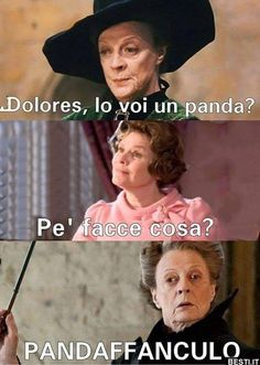 Dolores | BESTI.it - immagini divertenti, foto, barzellette, video Harry Potter Tumblr, Harry Potter Quiz, Harry Potter Anime, Harry Potter Images, Funny Memes Tumblr, New Funny Memes, Memes Humor, Panda, Funny Moments