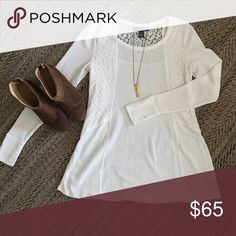 A Pea in the pod cream and lace top. Super soft, excellent condition. A Pea in the Pod Tops Blouses