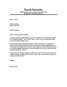 7 Best Sample Cover Letters Images Cover Letter For Resume