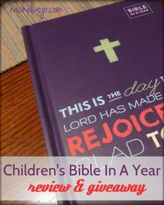Recently Tommy Nelson provided a brand new resource to our family- the Bible In A Year, a children's Bible designed specifically for childre...