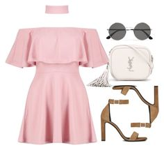 """Sin título #12332"" by vany-alvarado ❤ liked on Polyvore featuring Boohoo and Yves Saint Laurent"