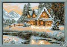 Winter - Snow-covered House - Cross Stitch Kits by RIOLIS - 1080