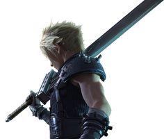 Cloud Key Art from Final Fantasy VII Remake