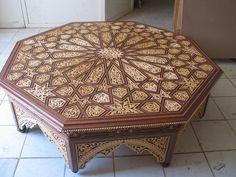moroccan wood table