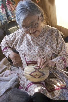 Lucille Westlock, Yup'ik basket weaver