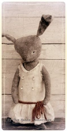 Primitive Bunny Rabbit Doll  By Thy Hands Tinkerings 2013