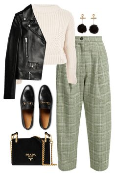 """""""Untitled #4394"""" by magsmccray on Polyvore featuring Natasha Zinko, Topshop, Yves Saint Laurent, Gucci and Prada"""