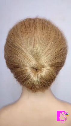 Hairdo For Long Hair, Bun Hairstyles For Long Hair, Headband Hairstyles, Girl Hairstyles, Hair Up Styles, Medium Hair Styles, Natural Hair Updo, Natural Hair Styles, Bridal Hair And Makeup